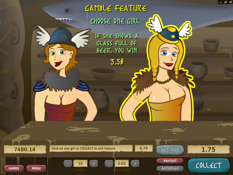 Drunken Vikings – Gamble (double up) Feature