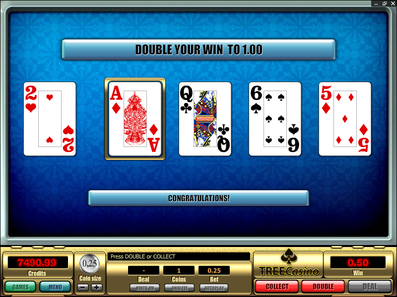 Poker Gamble (double up) Feature