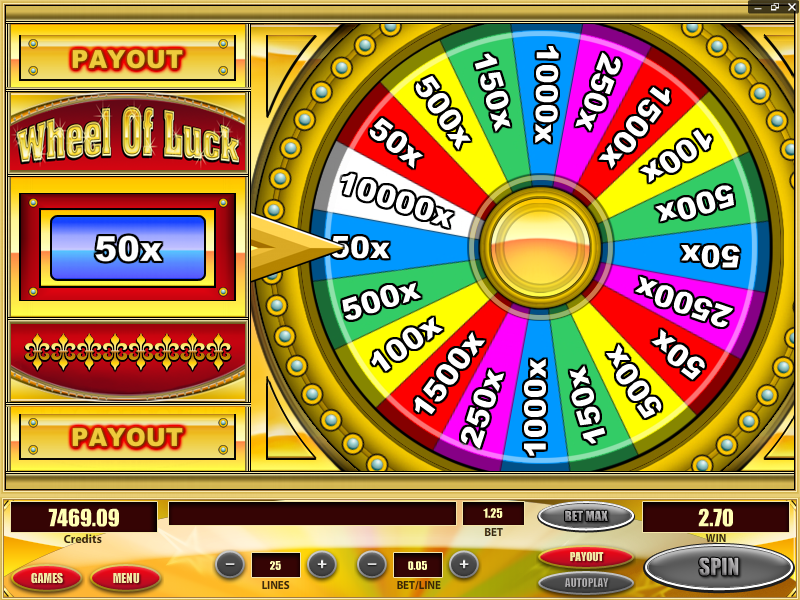 Wheel of Luck Bonus